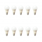 لامپ حبابی 10 وات ای دی سی بسته 10 عددی
